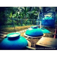 Instalasi Shelter Digester Biogas BD 3-7000L