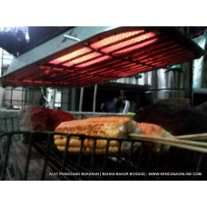 Pemanggang Bakaran Infra Red ( Bahan Bakar Biogas, Gas Alam, Gas Bumi, Jargas PGN )