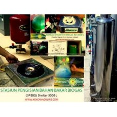 Instalasi Shelter Digester Biogas BD 3-3000L
