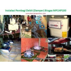 Instalasi Damper Biogas MH1HP100